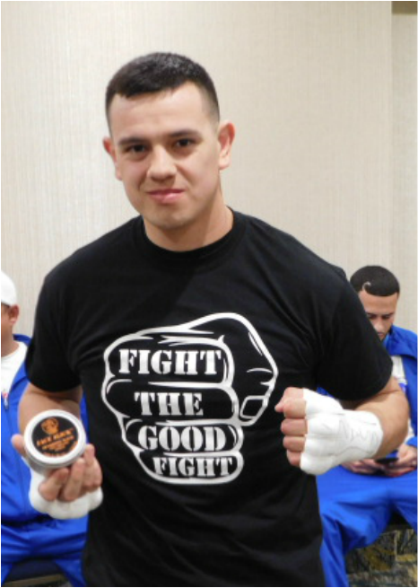 Pro Boxer Flavio Rodriguez with Face Slick Sparring Balm http://www.faceslick.com/