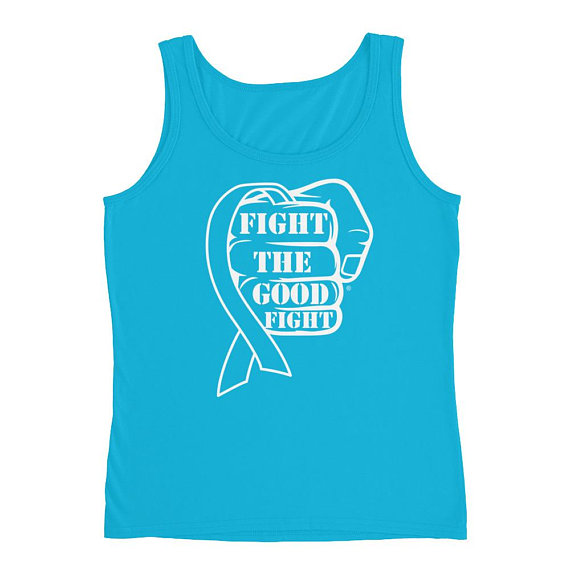 Fight The Good Fight Awareness Ribbon tank top