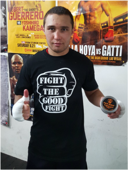 Sergey Lipinets Pro Boxer with Face Slick Sparring Balm http://www.faceslick.com/