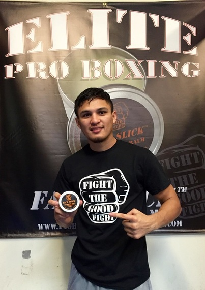 Pro Boxer Jessie Roman with Face Slick Sparring Balm http://www.faceslick.com/