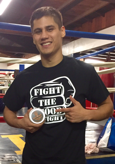 Daniel Roman Pro Boxer with Face Slick Sparring Balm http://www.faceslick.com/