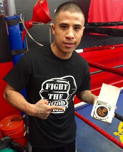 Pro Boxer Ivan Delgado FTGF with Face Slick Sparring Balm http://www.faceslick.com/