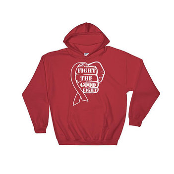 Fight The Good Fight Awareness Ribbon Hoodie